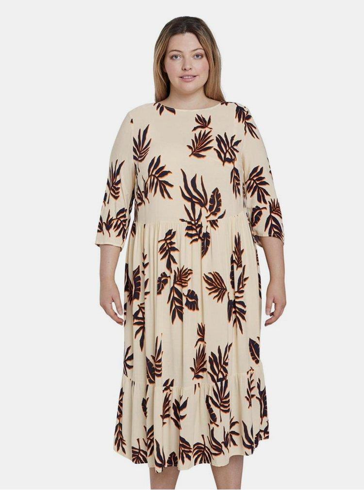 Béžové dámské vzorované šaty My True Me Tom Tailor