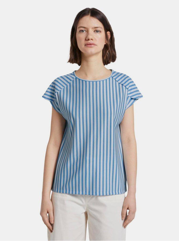 Modré dámské pruhované tričko Tom Tailor Denim
