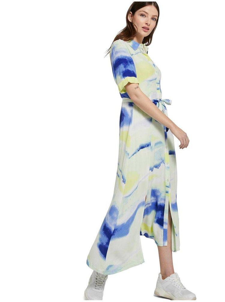 Rochii maxi pentru femei Tom Tailor Denim - alb, albastru