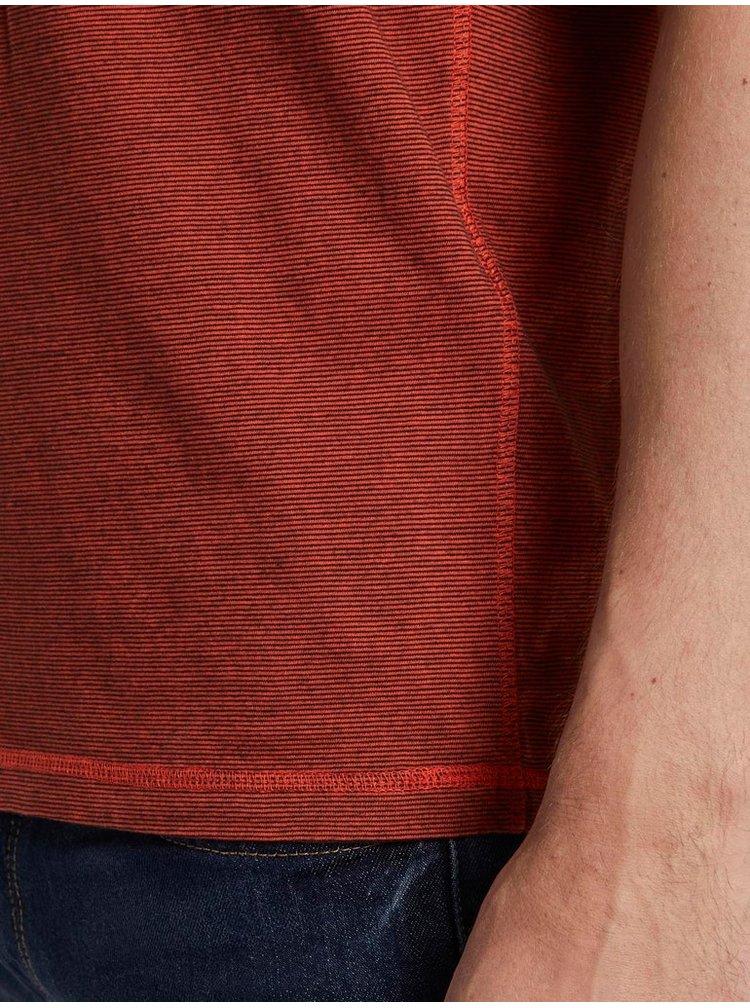 Hnědé pánské tričko Tom Tailor