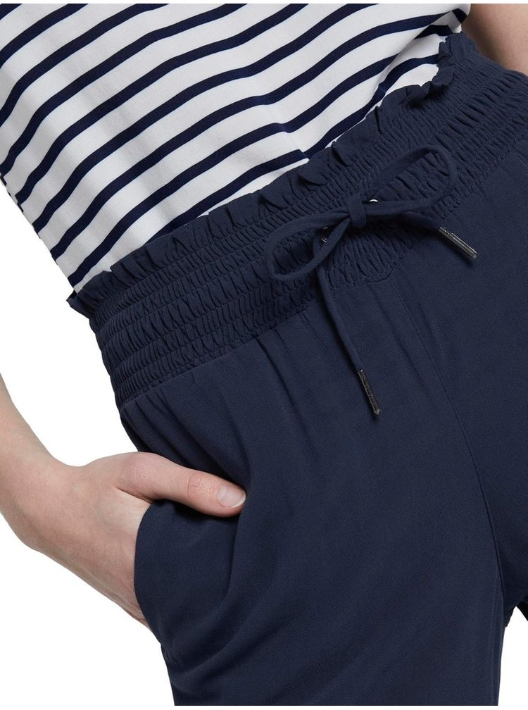 Tmavě modré dámské kalhoty Tom Tailor Denim
