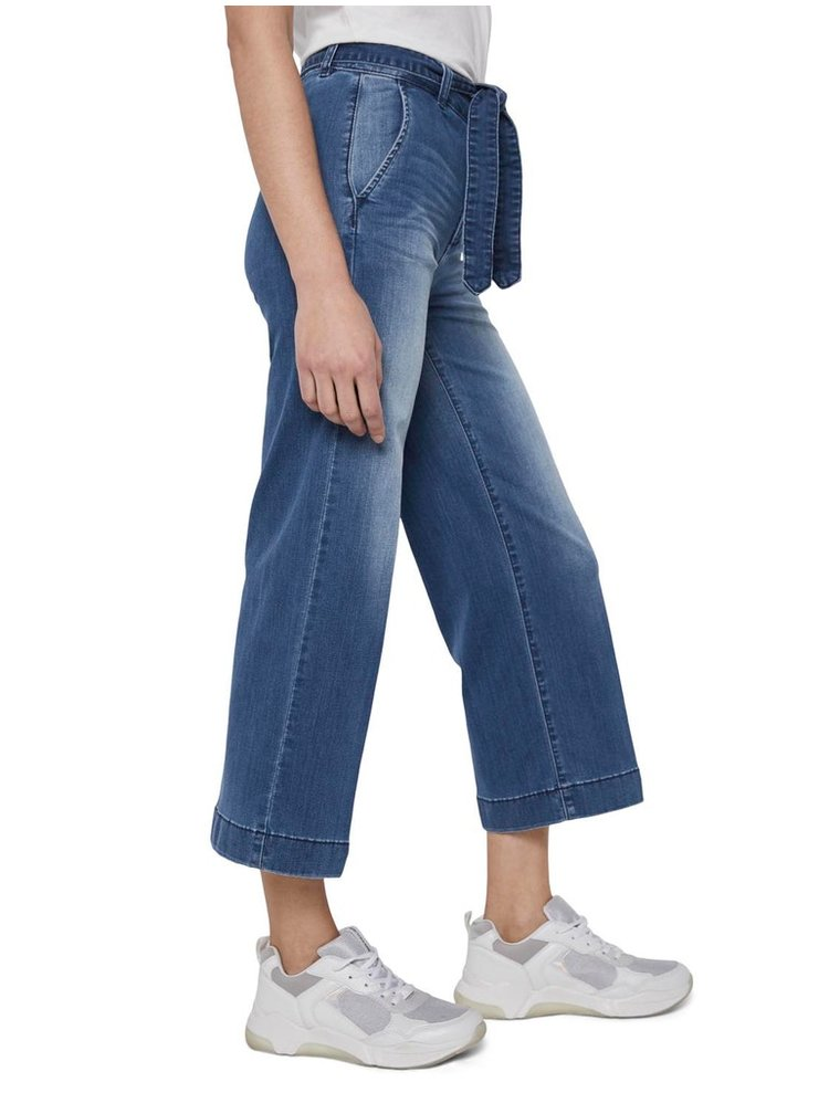 Modré rifľové culottes Tom Tailor