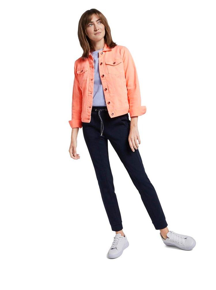 Oranžová dámská džínová bunda Tom Tailor