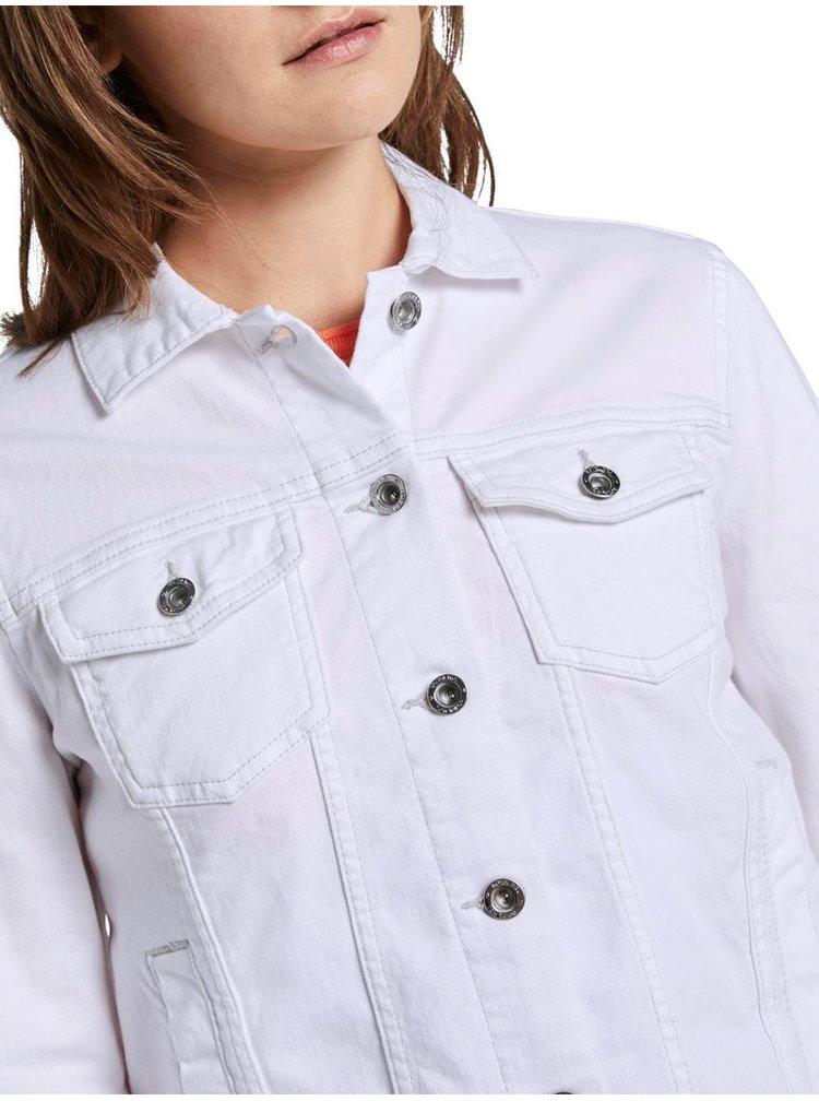 Bílá dámská džínová bunda Tom Tailor
