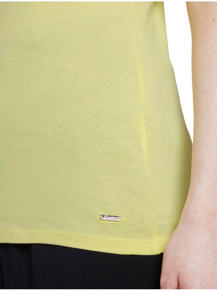 Tricouri pentru femei Tom Tailor Denim - galben