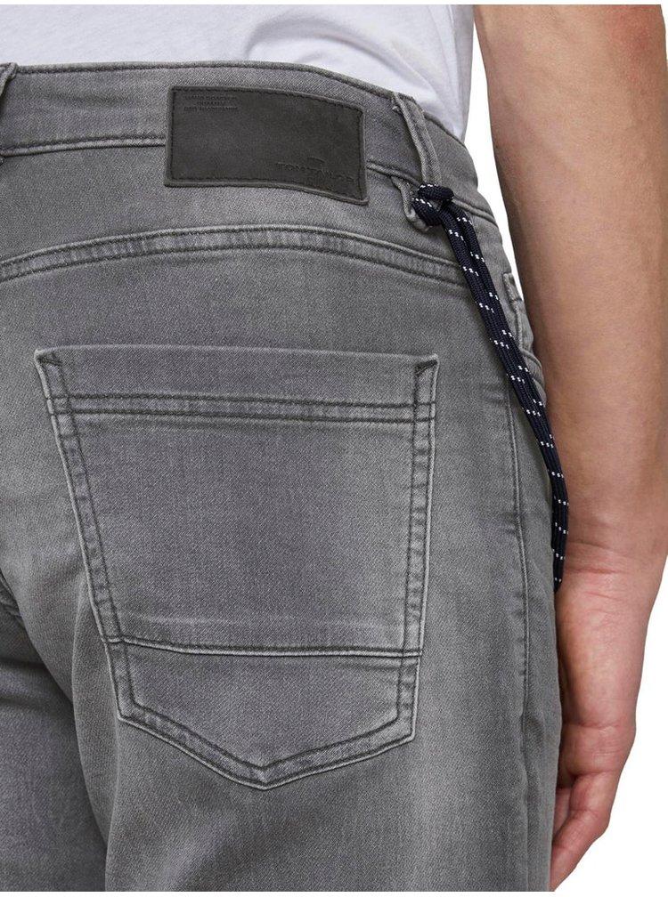 Šedé pánské džínové kraťasy Tom Tailor