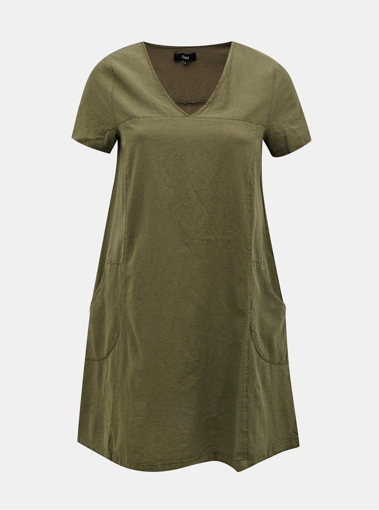 Khaki šaty Zizzi