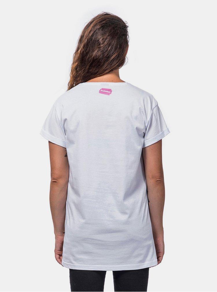 Bílé dámské tričko Horsefeathers