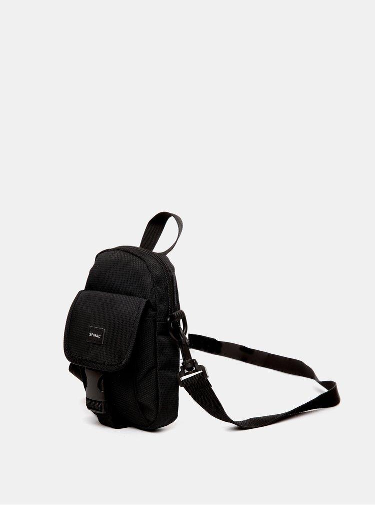 Černá crossbody taška Spiral