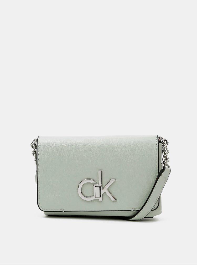 Světle zelená crossbody kabelka Calvin Klein Jeans