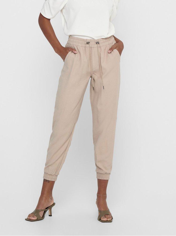 Béžové kalhoty ONLY Kelda