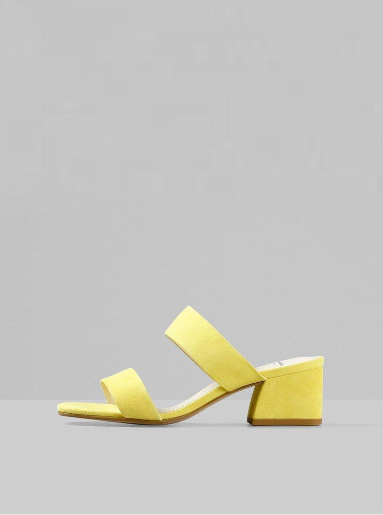 Žluté dámské semišové pantofle Vagabond