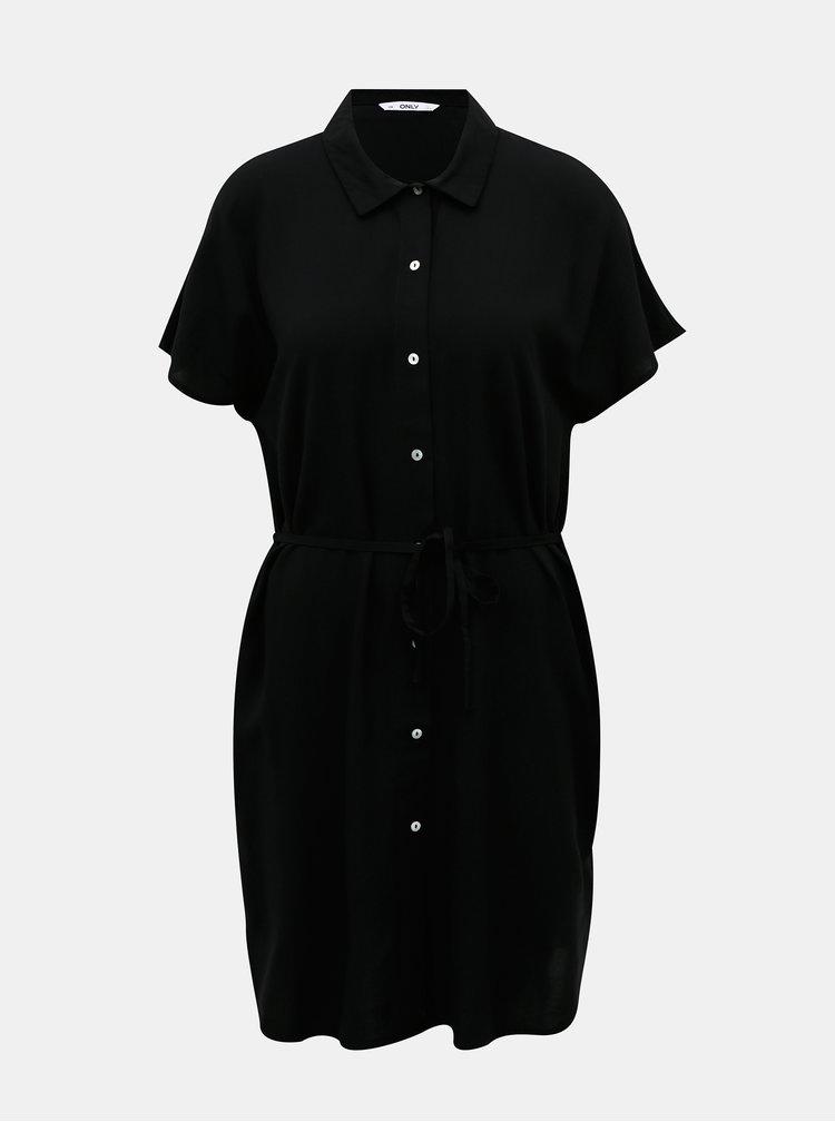 Černé košilové šaty ONLY Nova