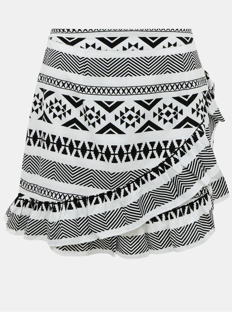 Černo-bílá vzorovaná sukně ONLY Lucca