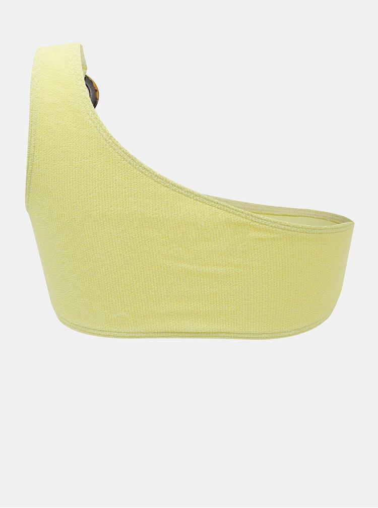 Žlutý horní díl plavek Pieces Nora