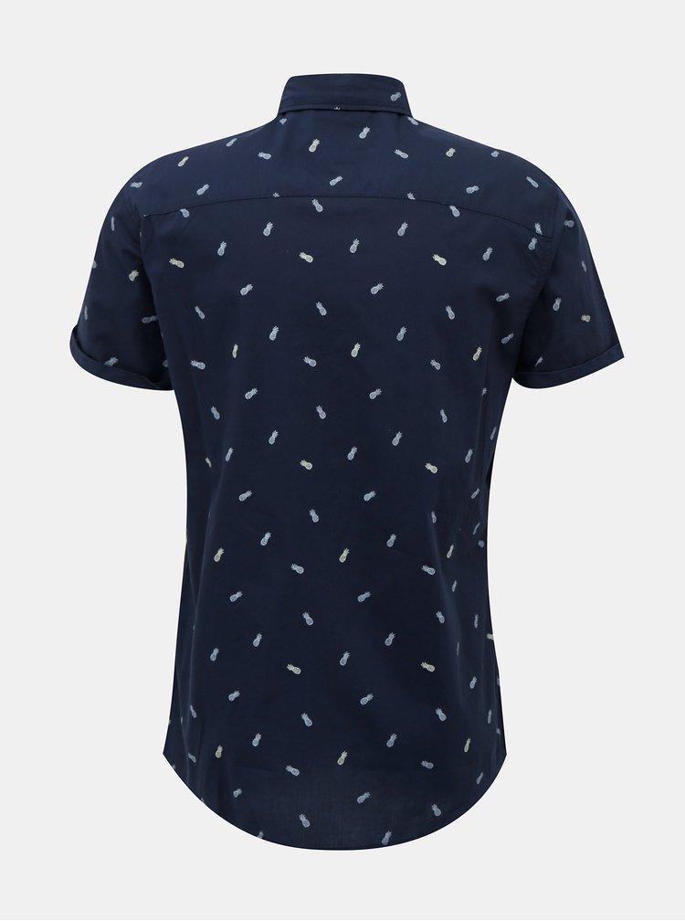 Tmavě modrá vzorovaná košile Jack & Jones Lasse