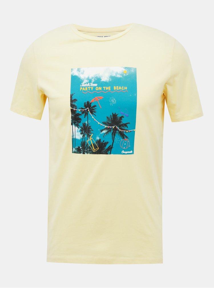 Žluté tričko Jack & Jones Luciano