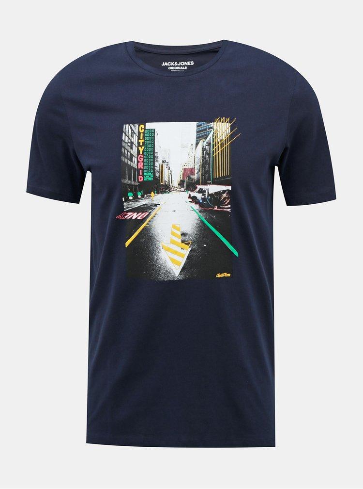 Tmavomodré tričko Jack & Jones Luciano