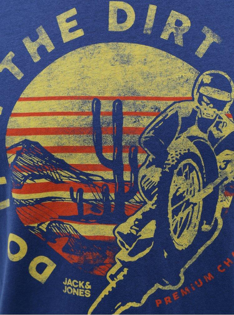 Modré tričko Jack & Jones Brett