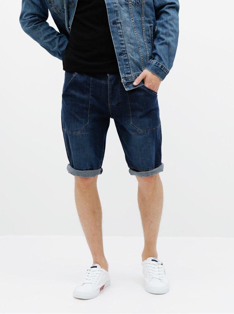Tmavě modré pánské džínové kraťasy SAM 73