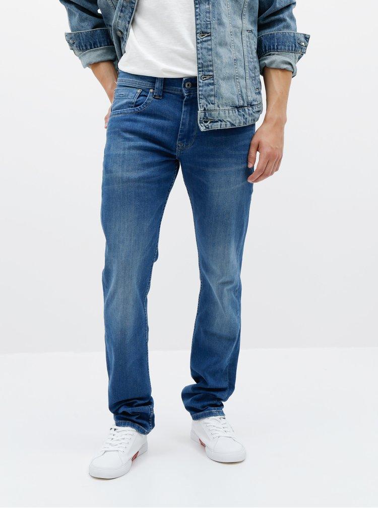 Modré pánské straight fit džíny Pepe Jeans Cash