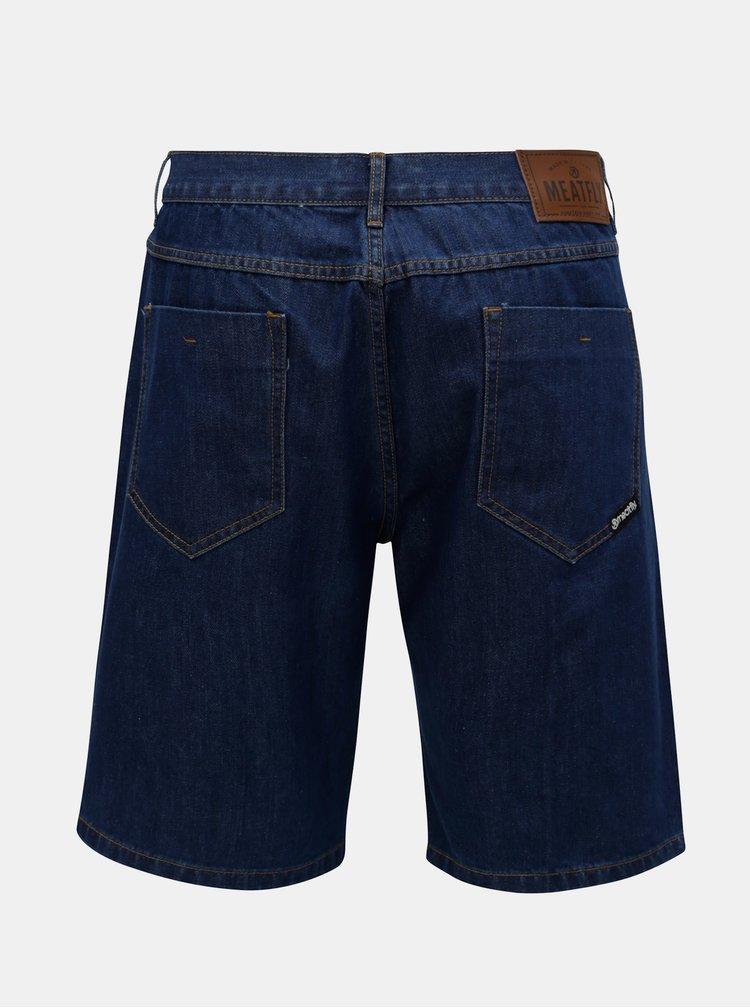 Modré pánské džínové kraťasy MEATFLY Just