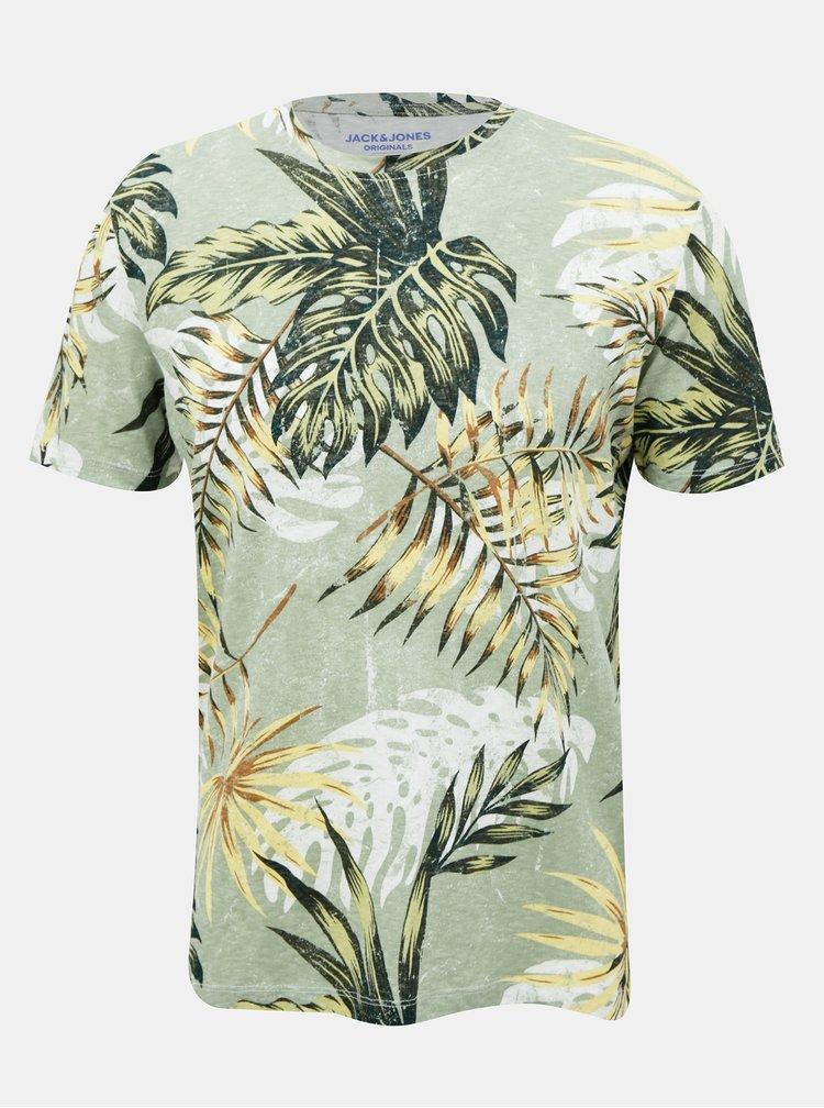 Zelené vzorované tričko Jack & Jones Reli