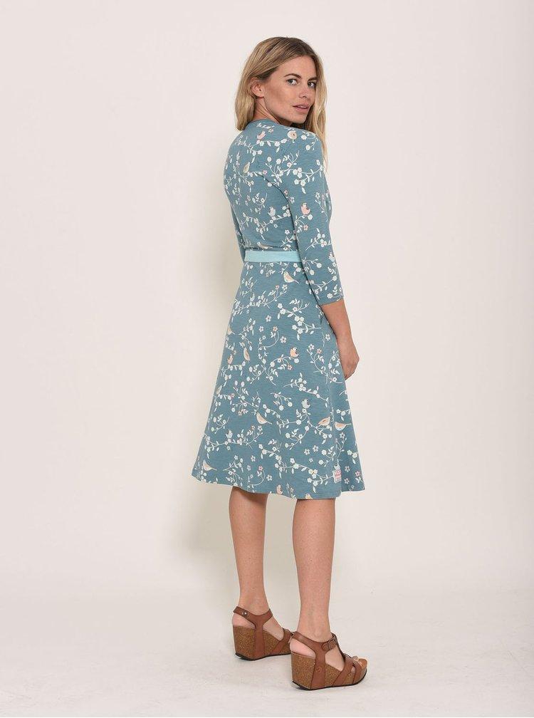 Modré kvetované šaty Brakeburn Bird
