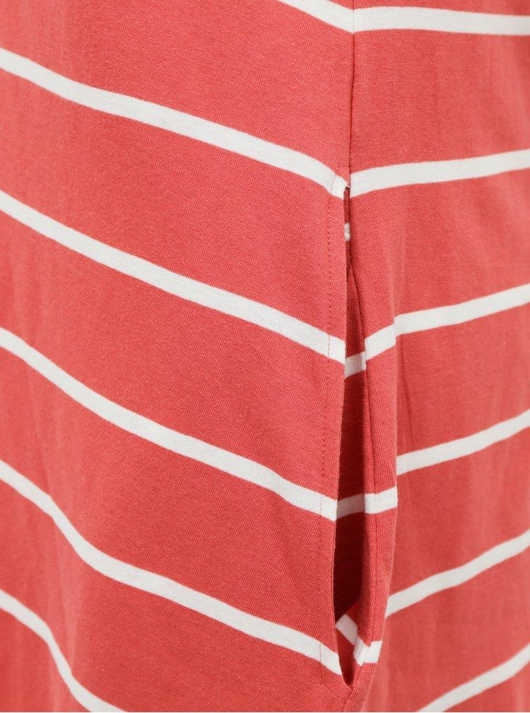Červené pruhované basic šaty ONLY May