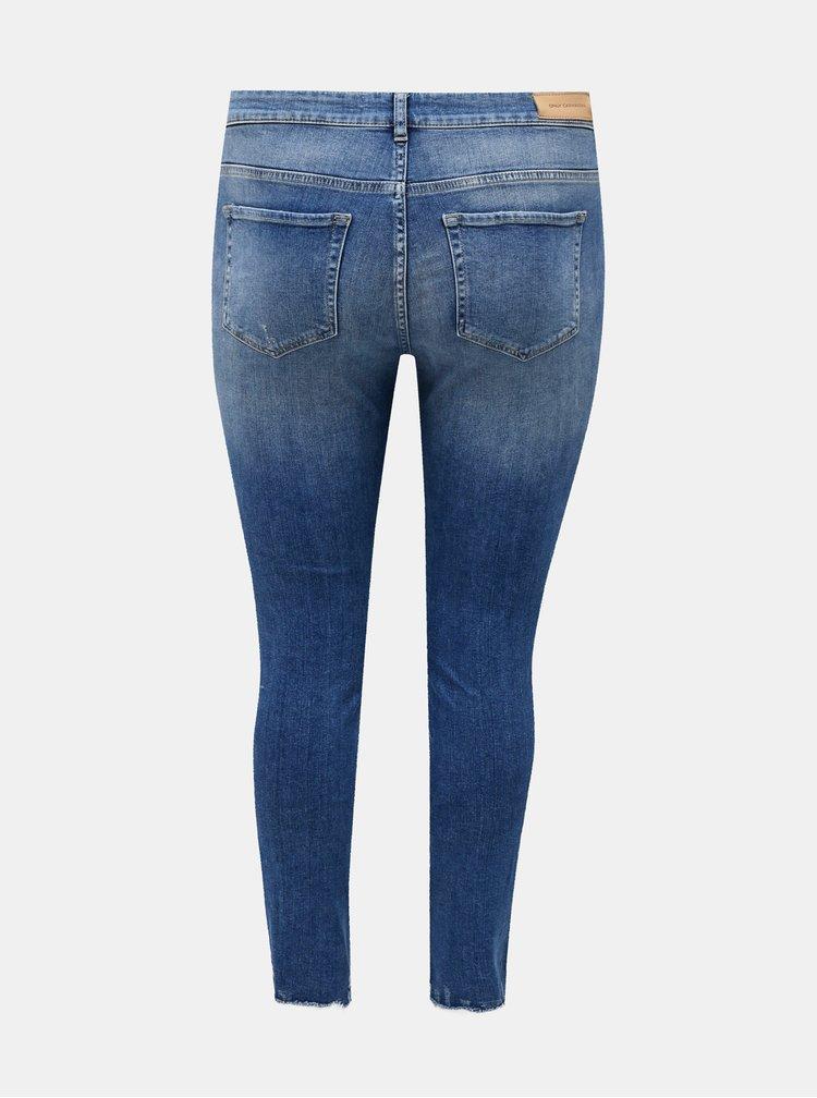 Modré slim fit džíny ONLY CARMAKOMA Tara