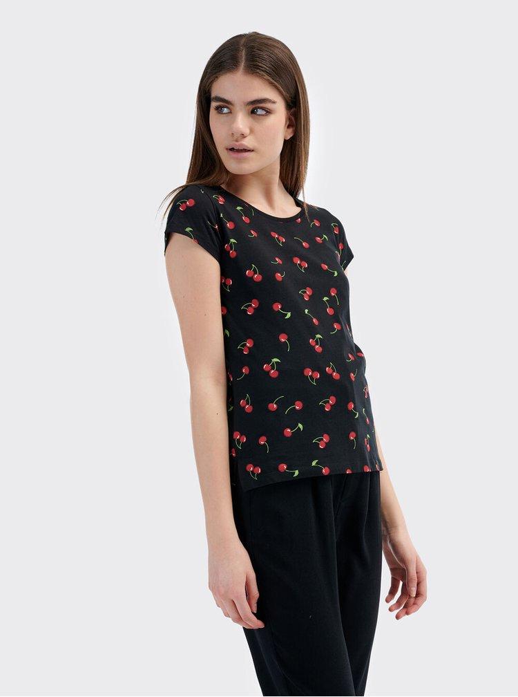 Černé dámské tričko Alcott