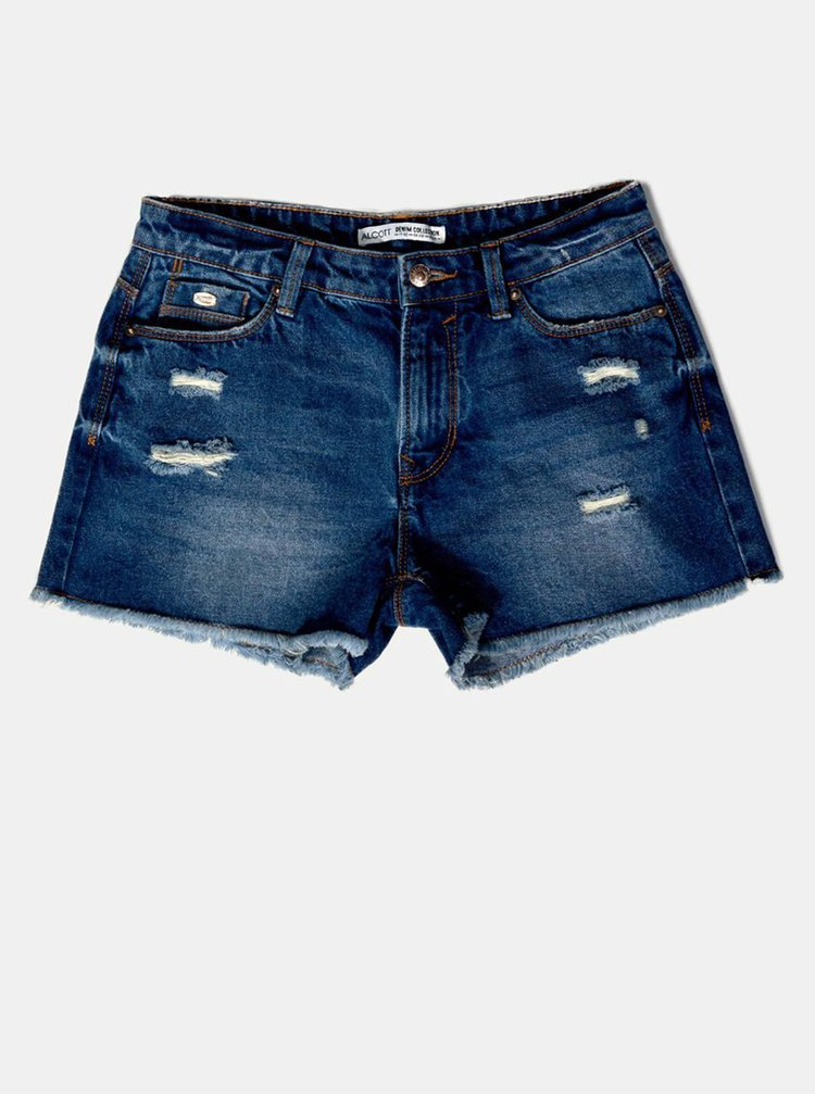 Tmavě modré džínové kraťasy Alcott