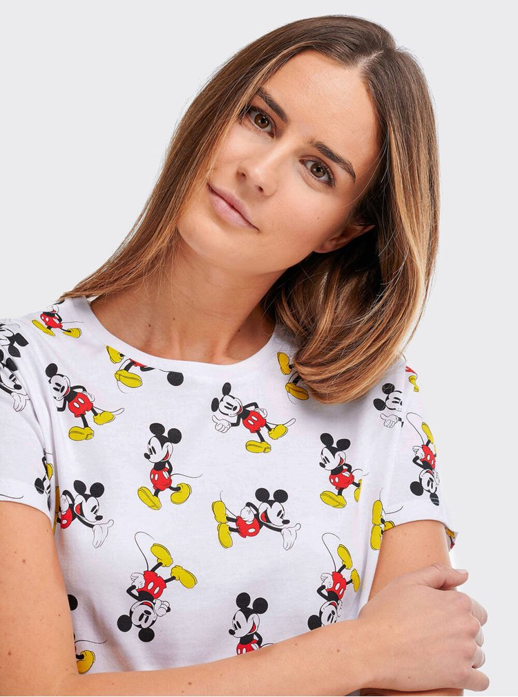 Bílé dámské tričko Alcott Mickey Mouse