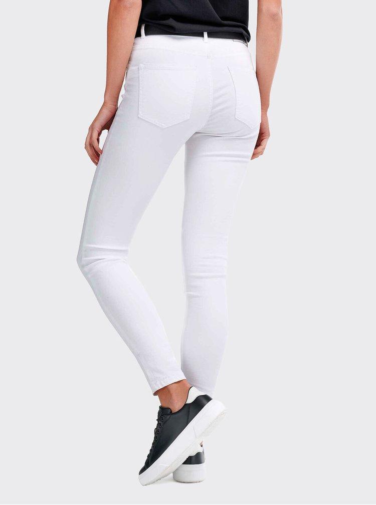 Skinny fit pentru femei Alcott - alb
