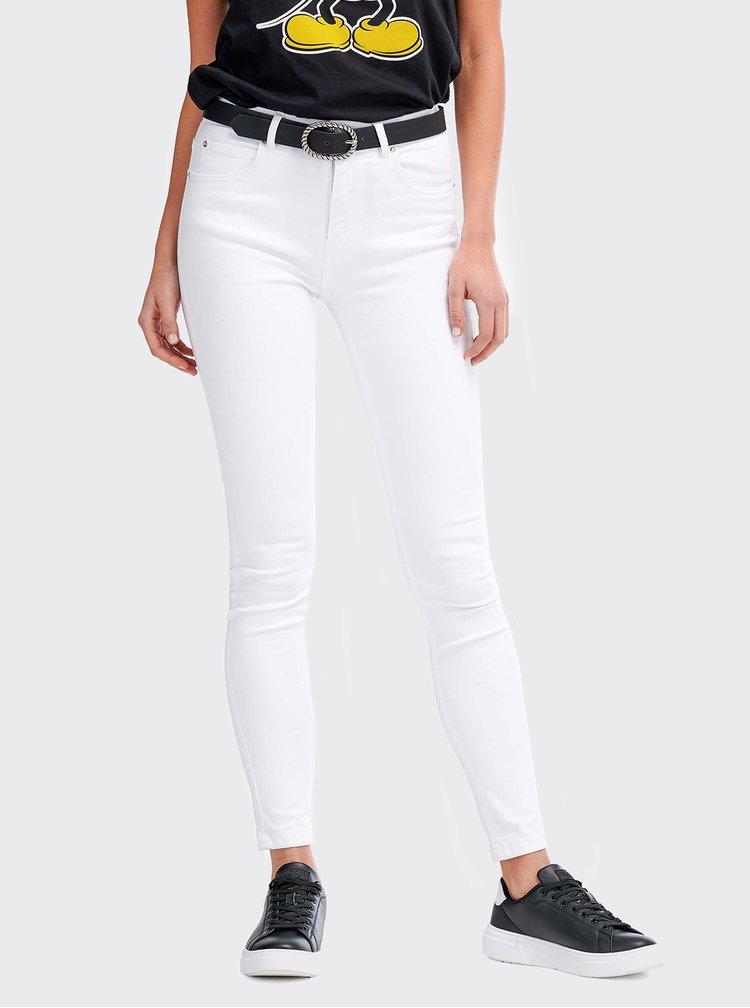 Bílé dámské skinny fit džíny Alcott