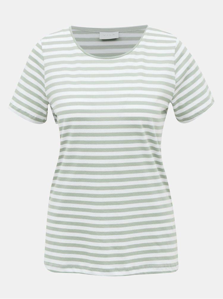 Topuri si tricouri pentru femei VILA - verde, alb