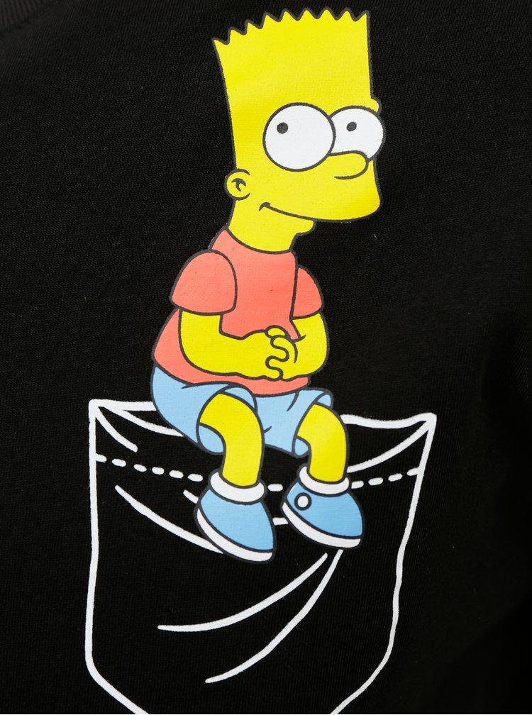 Černé pánské tričko Alcott Bart Simpson