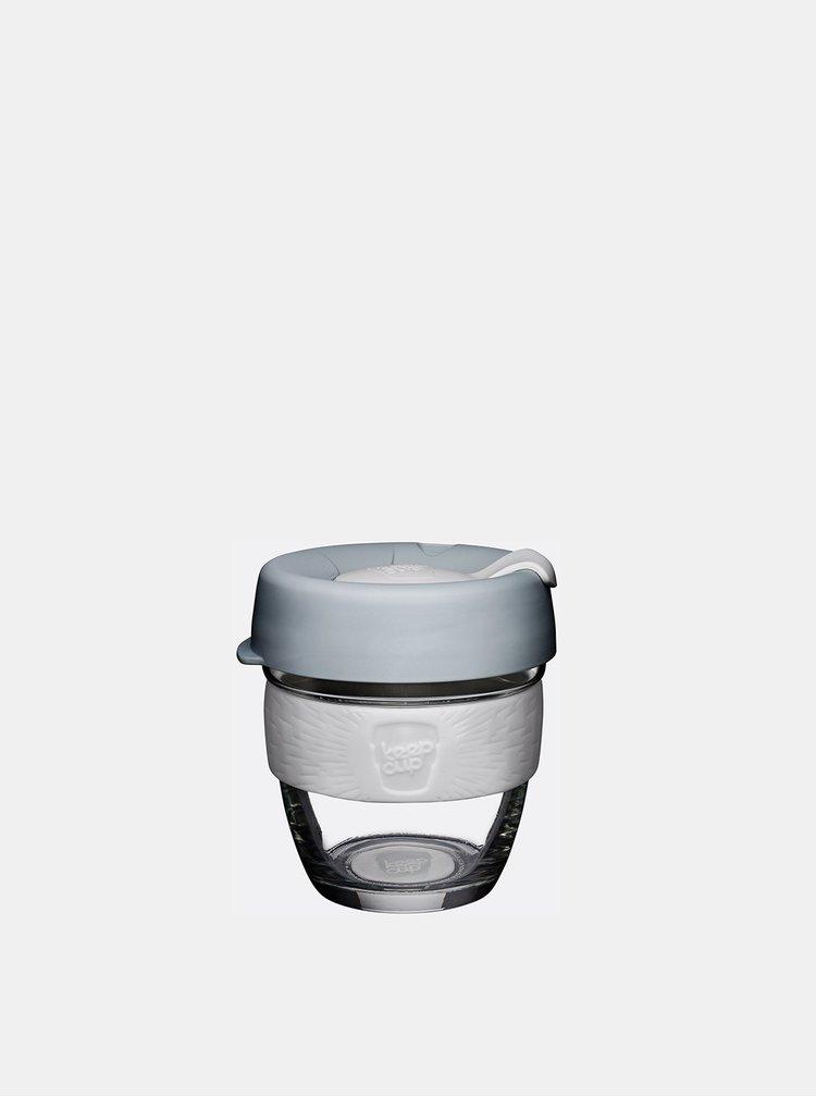 Světle šedý skleněný cestovní hrnek KeepCup Original small 227 ml