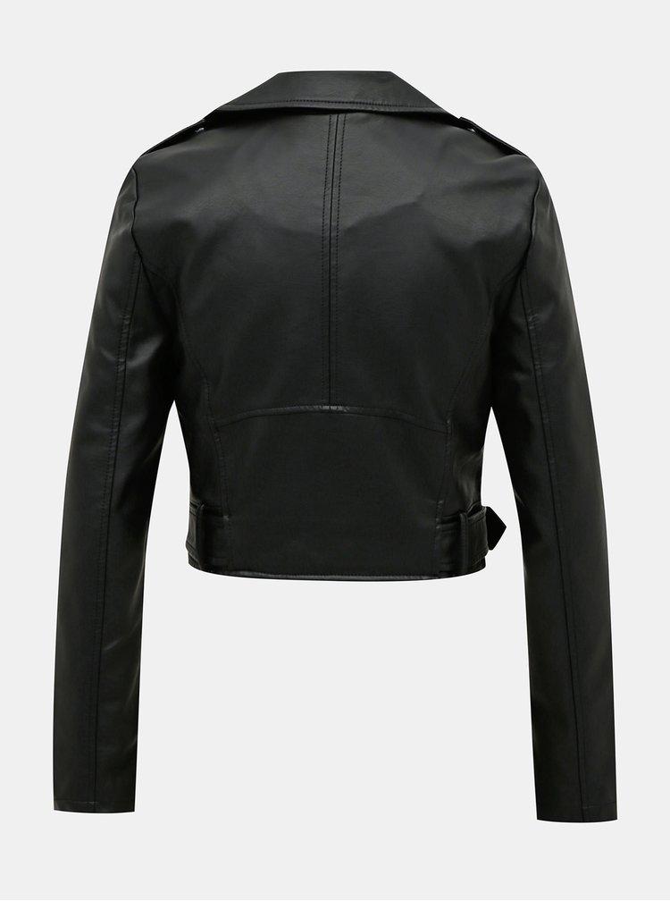 Čierna koženková bunda TALLY WEiJL