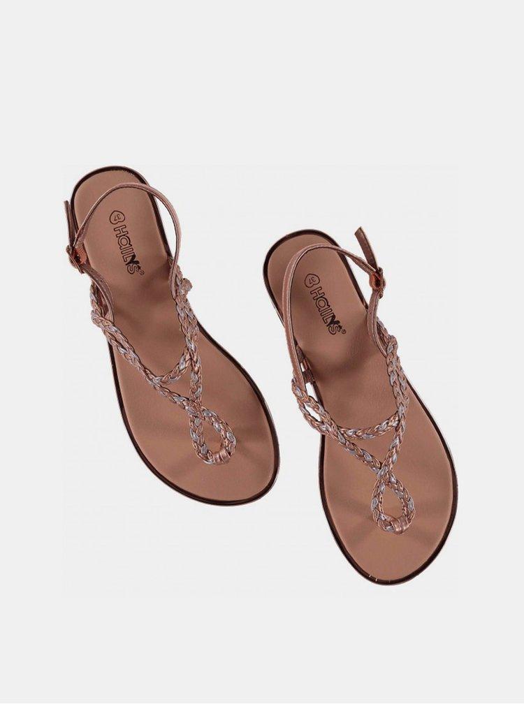 Dámské sandály ve zlaté barvě Haily´s Enola