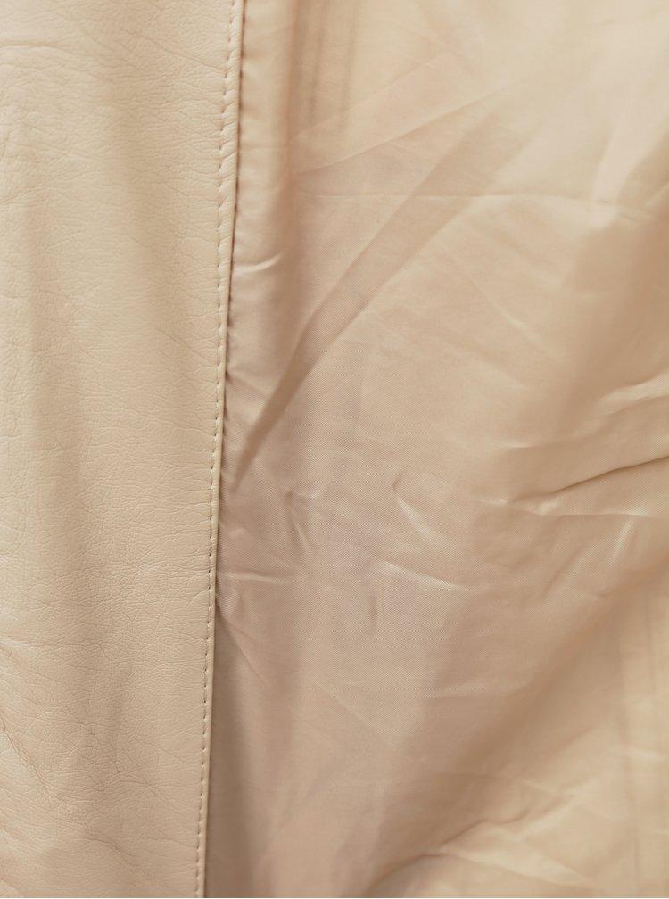 Béžová koženková bunda ONLY