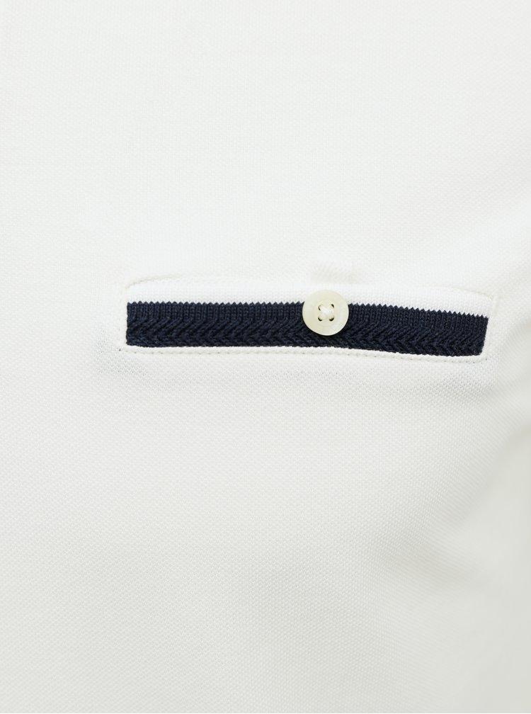 Tricouri polo pentru barbati Selected Homme - alb