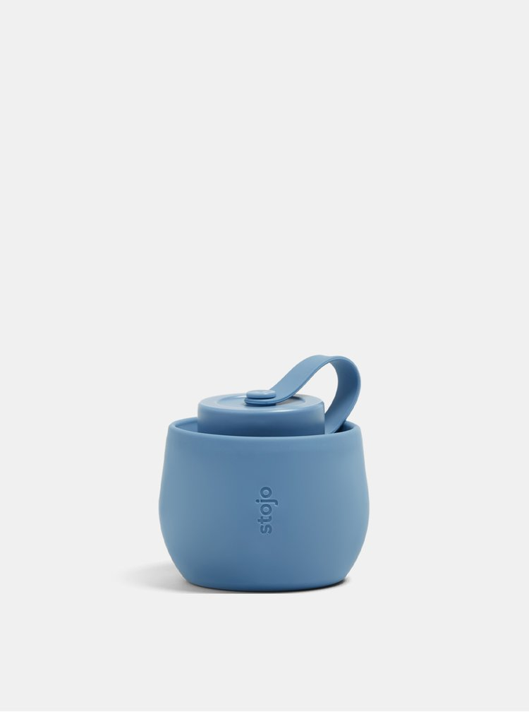 Modrá cestovní skládací láhev Stojo 592 ml