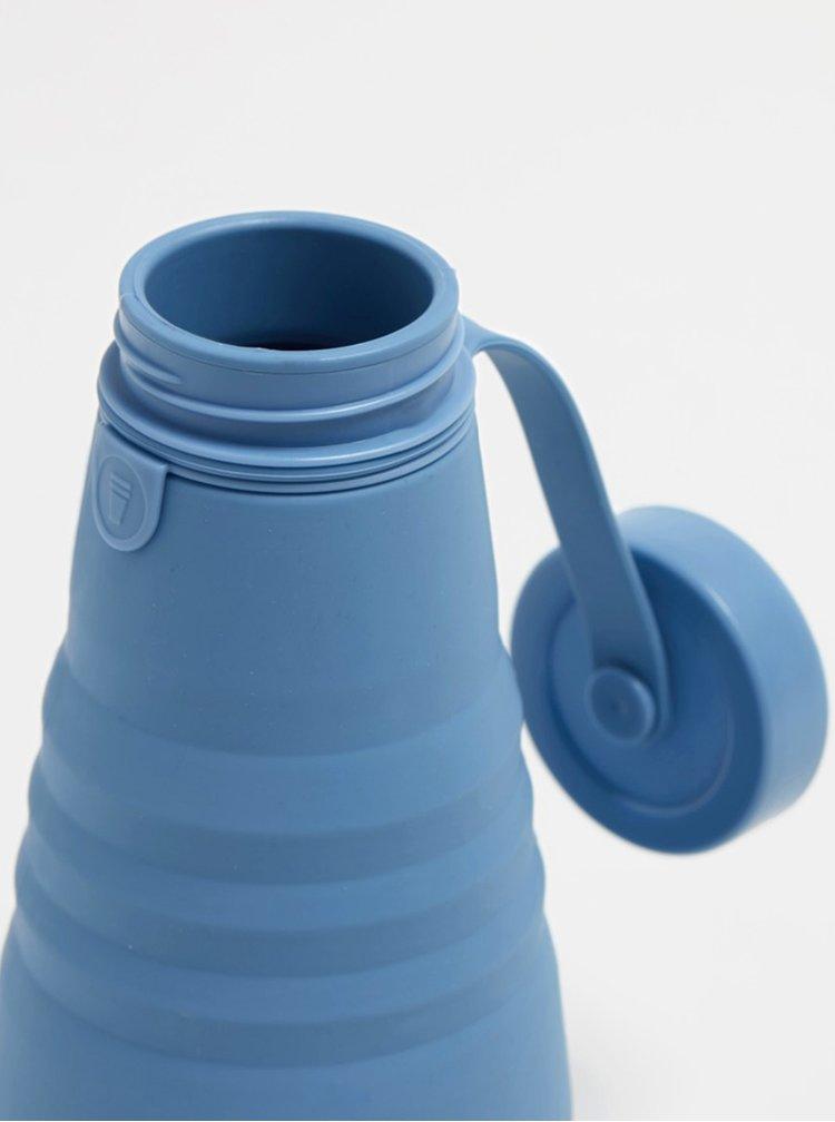 Modrá cestovní skládací láhev Stojo 590 ml
