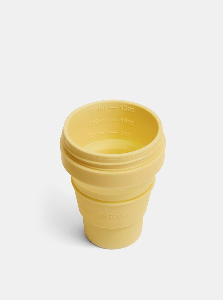 Žlutý cestovní skládací hrnek Stojo Pocket 355 ml