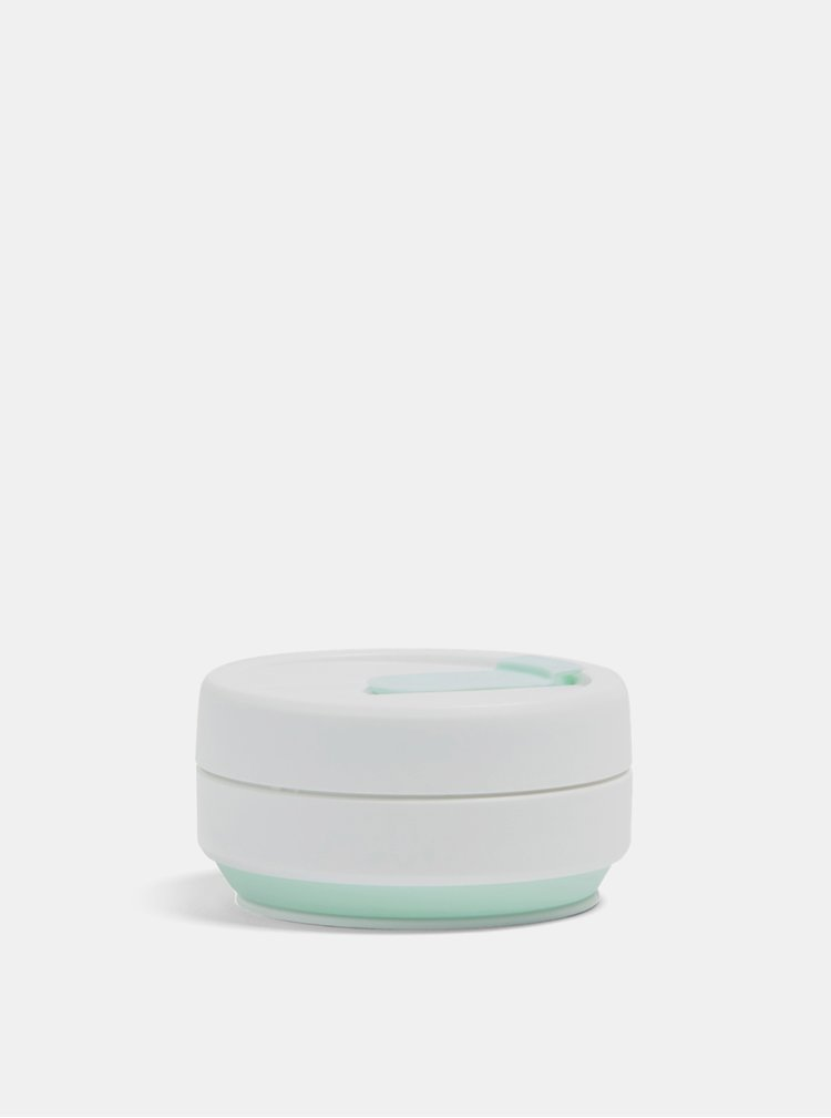 Bílo-mentolový cestovní skládací hrnek Stojo Pocket 355 ml