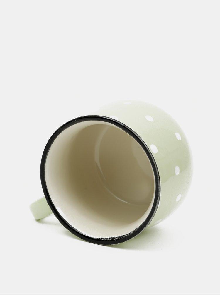 Světle zelený puntíkovaný hrnek Dakls 770ml