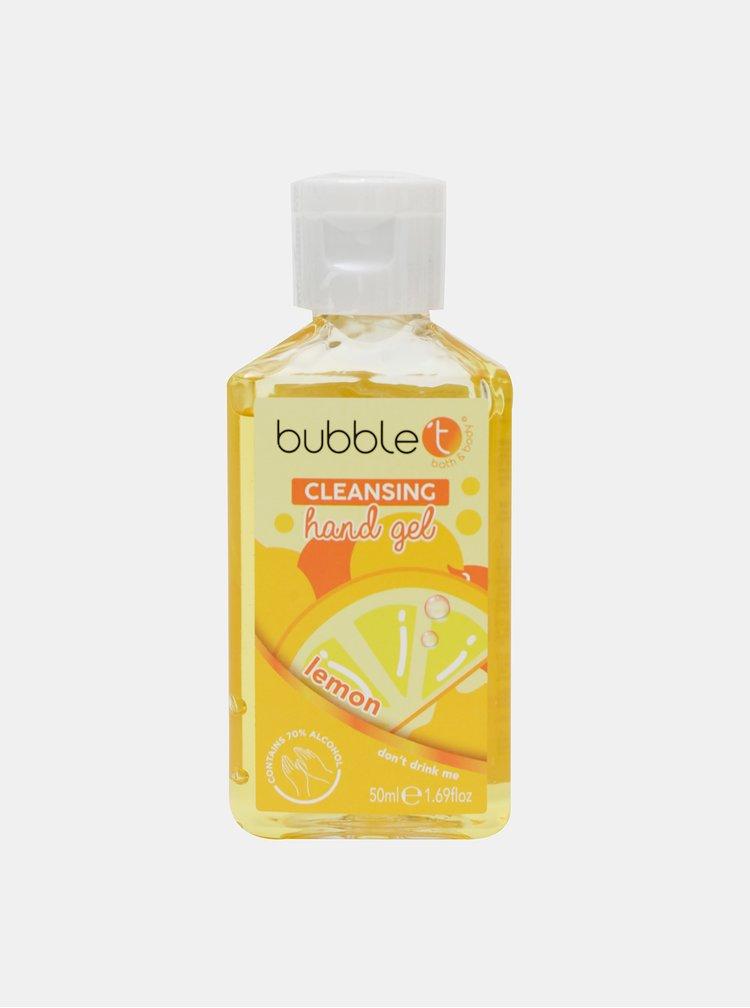 Antibakteriální gel na ruce (70% alkoholu) Bubble T Cosmetics Lemon 50 ml