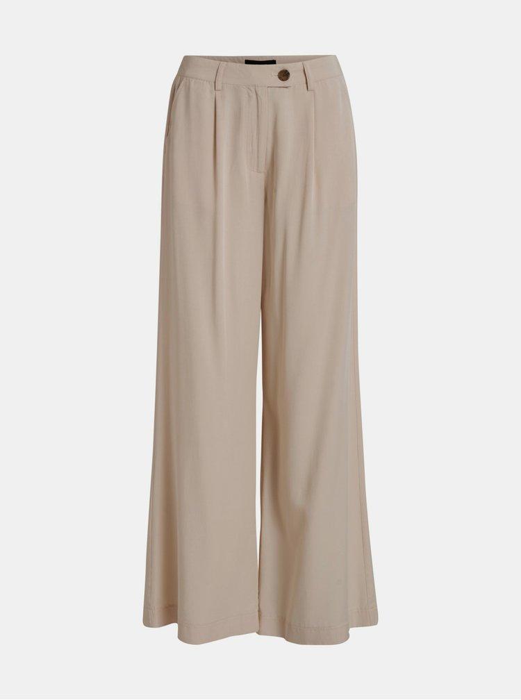 Béžové volné kalhoty Object