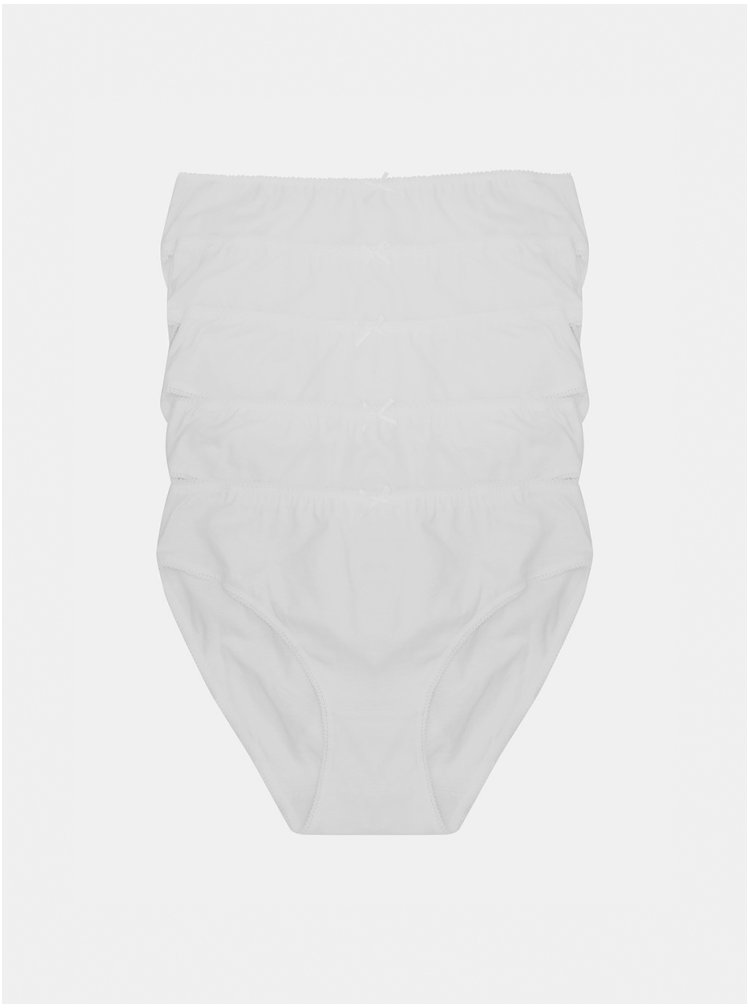 Sada čtyř bílých kalhotek M&Co